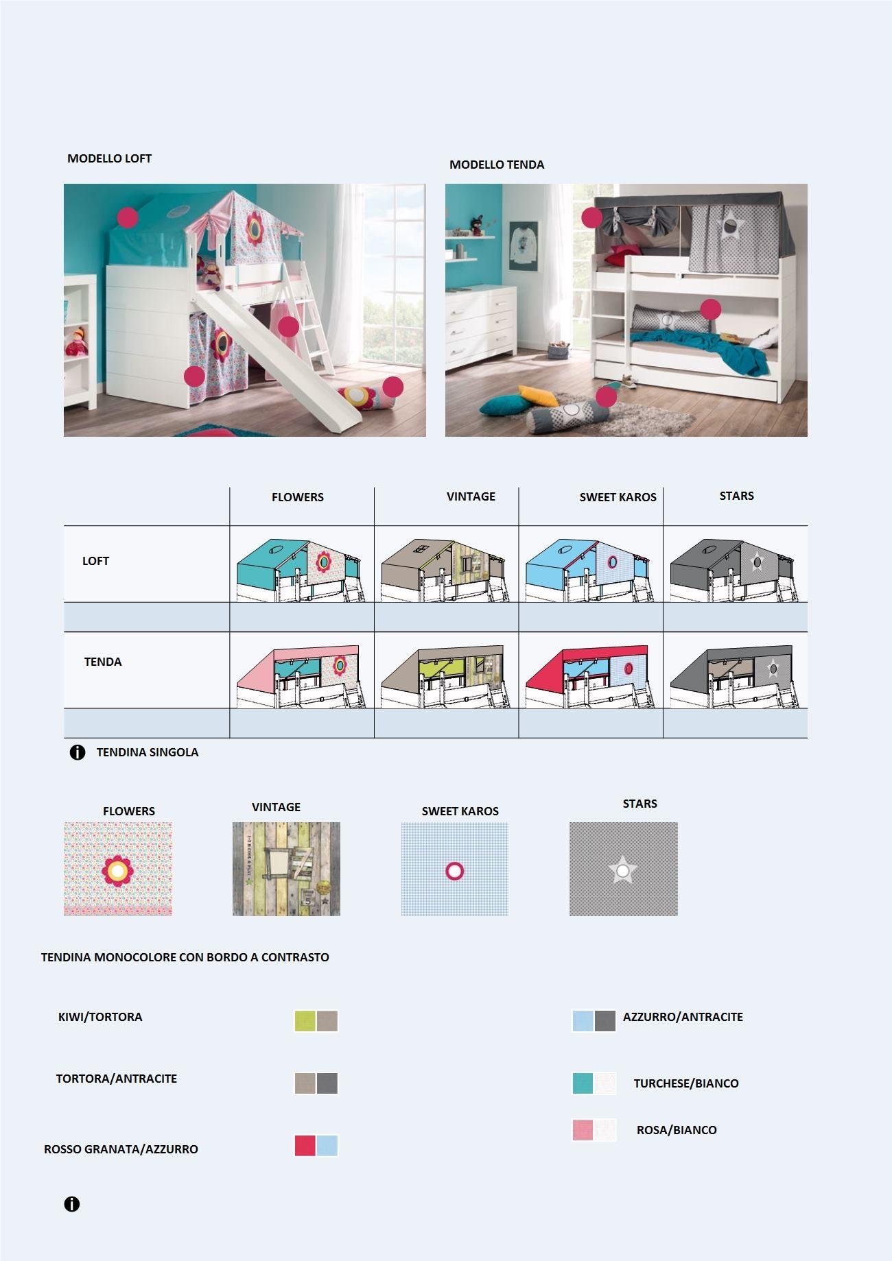 Letto gioco fiona con scivolo spaziojunior store for Scivolo per bambini ikea