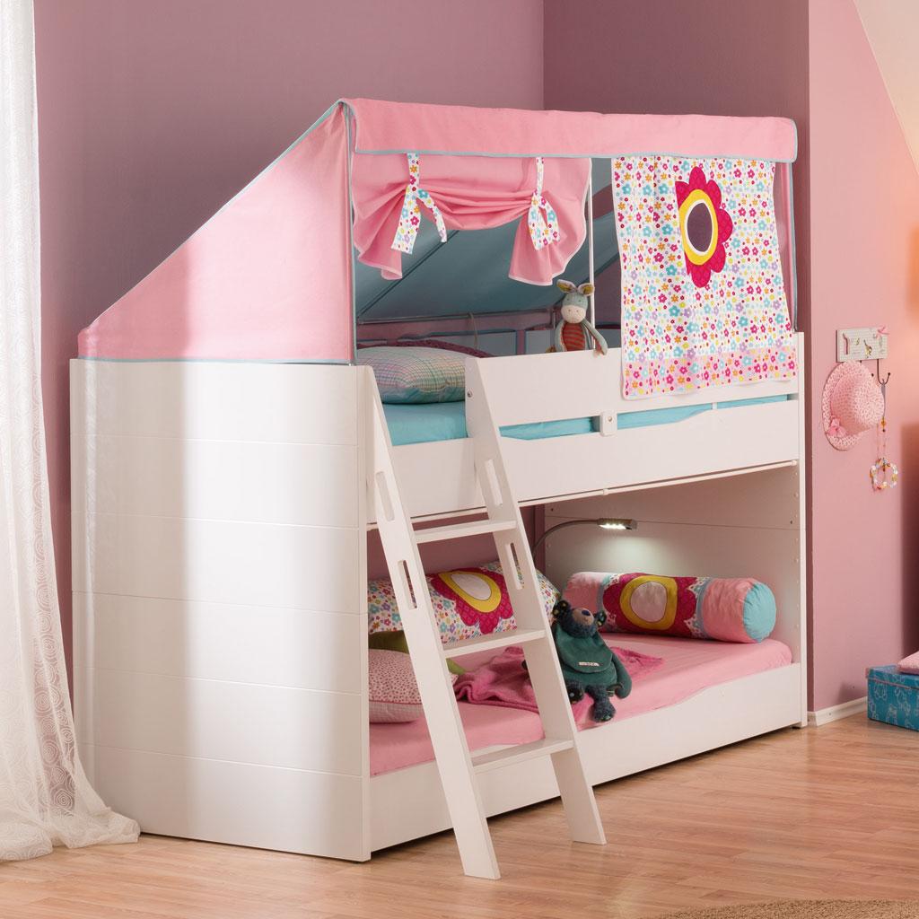 Letto a castello BASSO per bambini laccato bianco – Spaziojunior Store