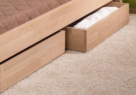 Letto in legno di rovere, singolo e piazza e 1/2 – Spaziojunior Store