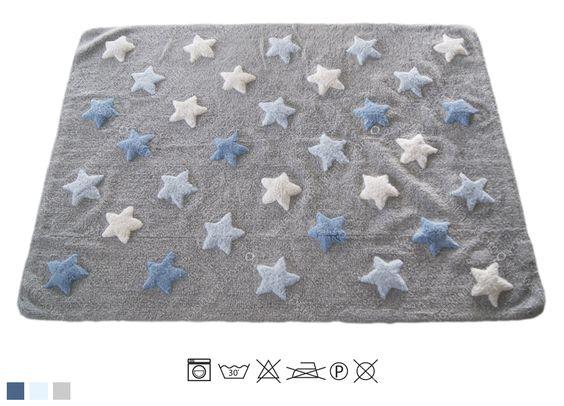 Tappeti Per Bambini Lavabili In Lavatrice : Tappeto lavabile per bambini little stella blue spaziojunior store