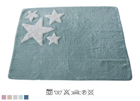 Tappeti Per Bambini Lavabili : Tappeto lavabile per bambini stella verde acquamarina